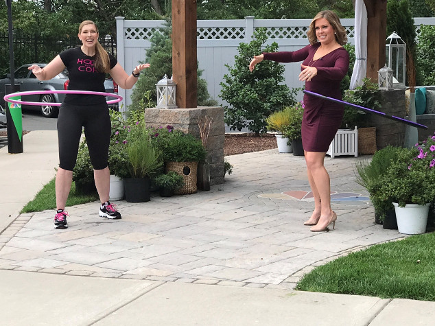 Cori Magnotta and Heidi Voight hooping